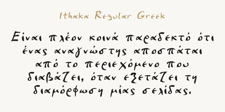 Ithaka Font Family