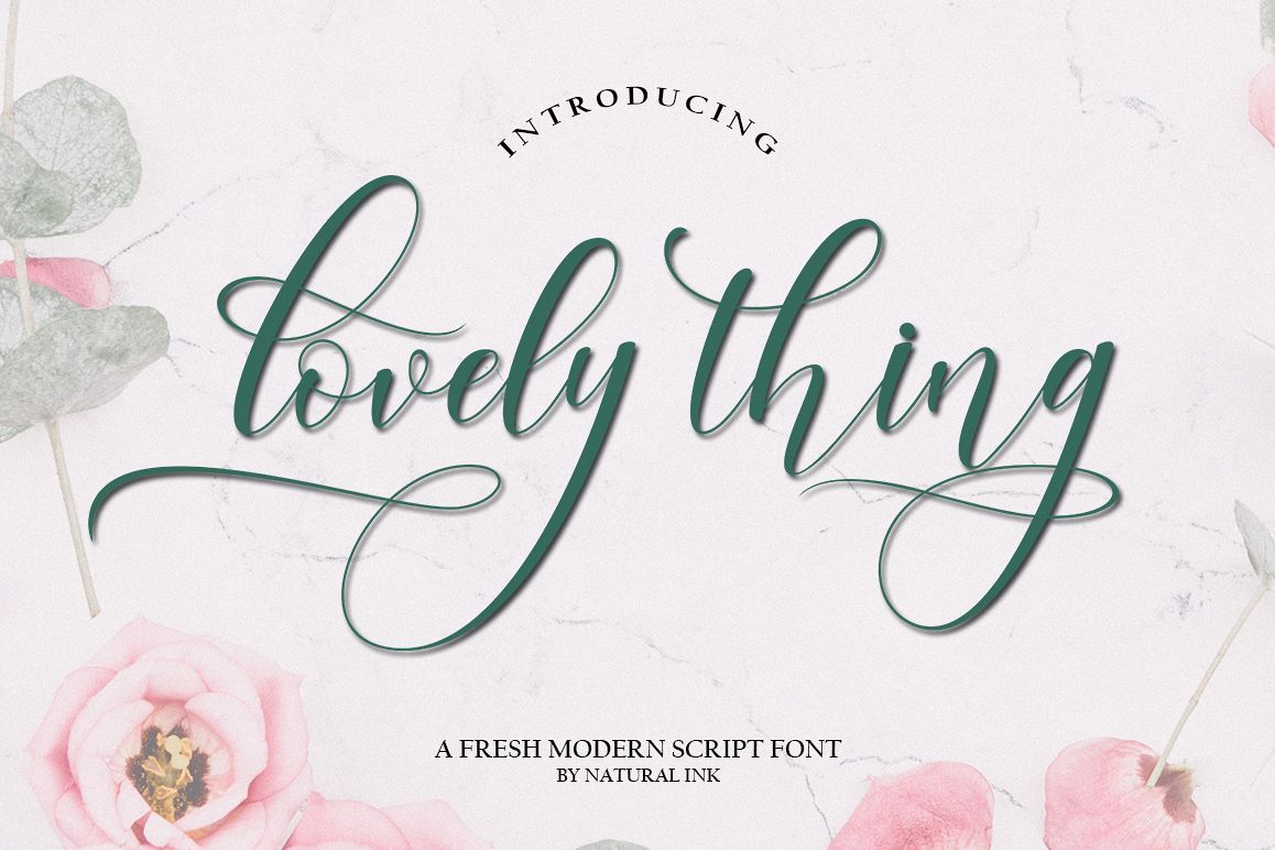 lovely thing Script Font