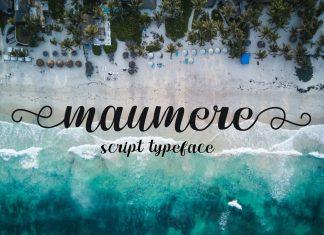 maumere Script Font
