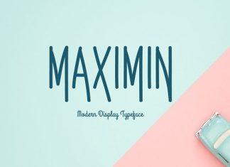 Maximin Typeface