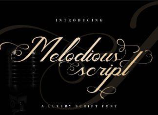 Melodious Script Font