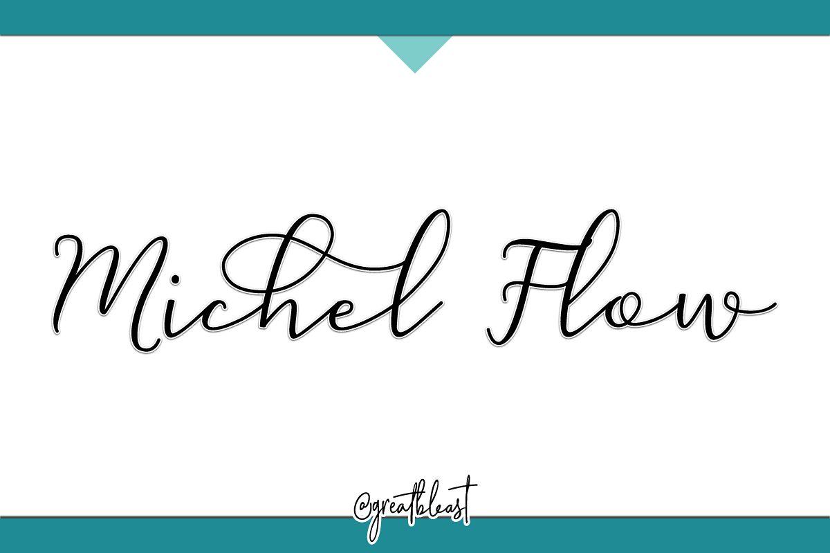 Michel Flow Script Font