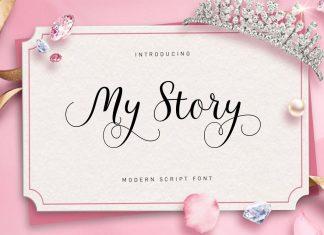 My Story Script Font