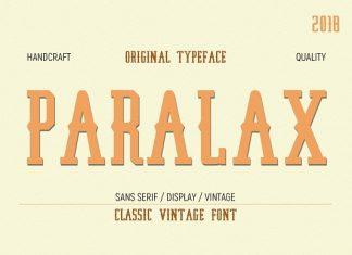 Paralax typeface Font