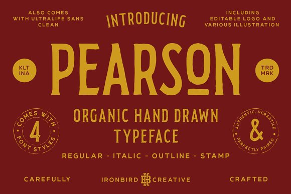 Pearson Typeface Font