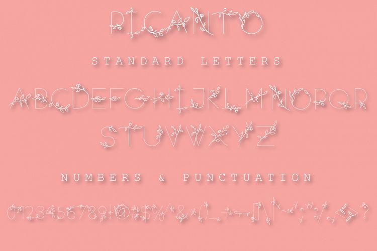 PICANTO - FLORAL FONTRegular Font