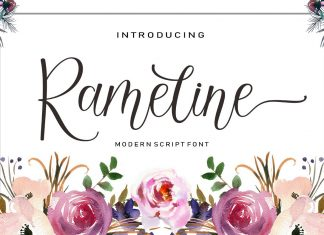 Rameline Script Font