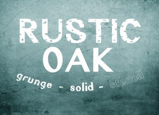 Rustic Oak A Grunge, Solid, and Stencil Other Font
