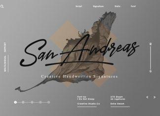 San Andreas (Signature Font)