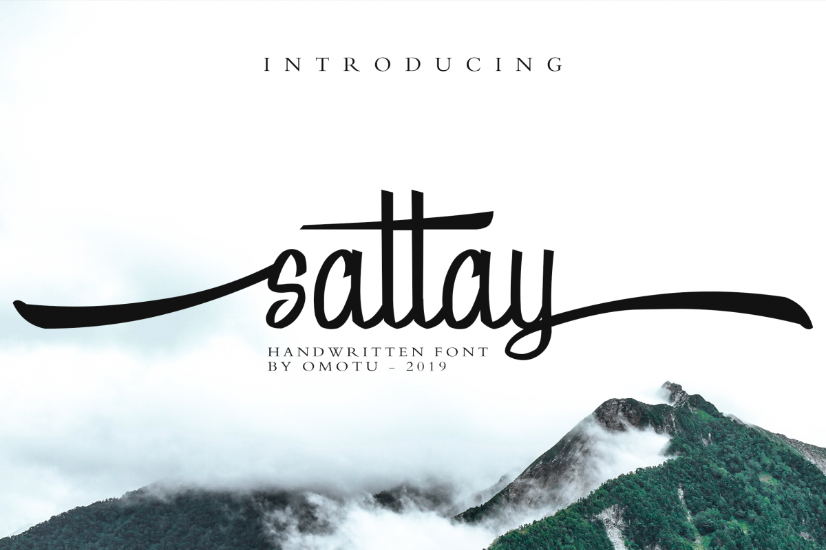 Sattay Script Font