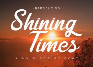 Shining Times Script Font