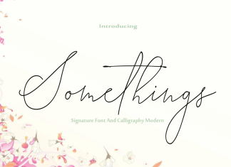 Somethings Font