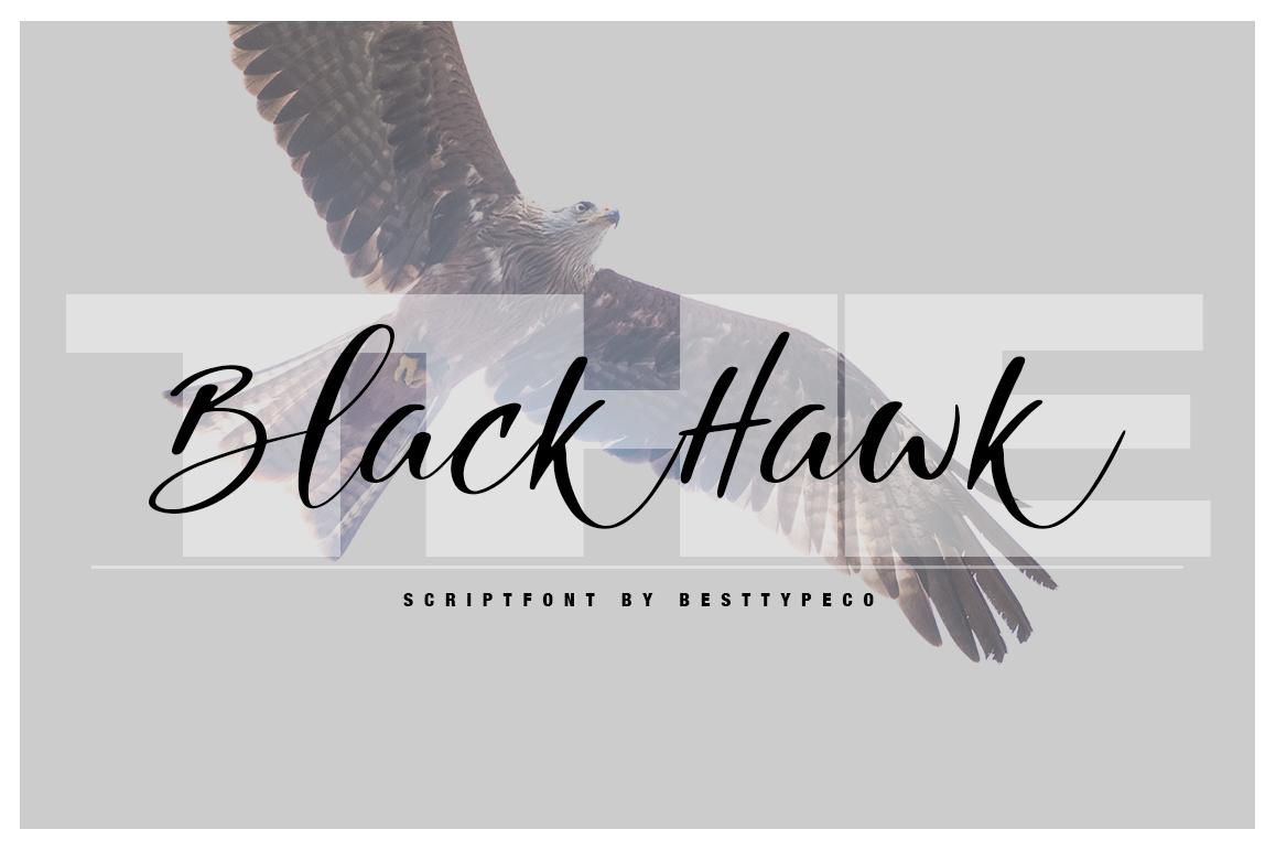 The Black HawkScript Font