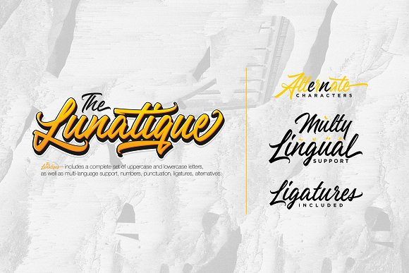 The Lunatique Font