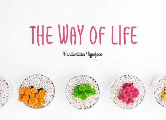 The Way Of LifeRegular Font