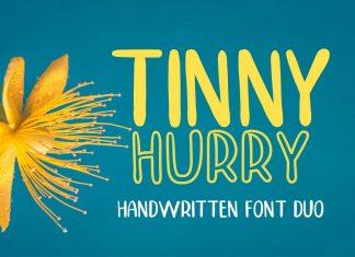 TINNY HURRYS cript Font
