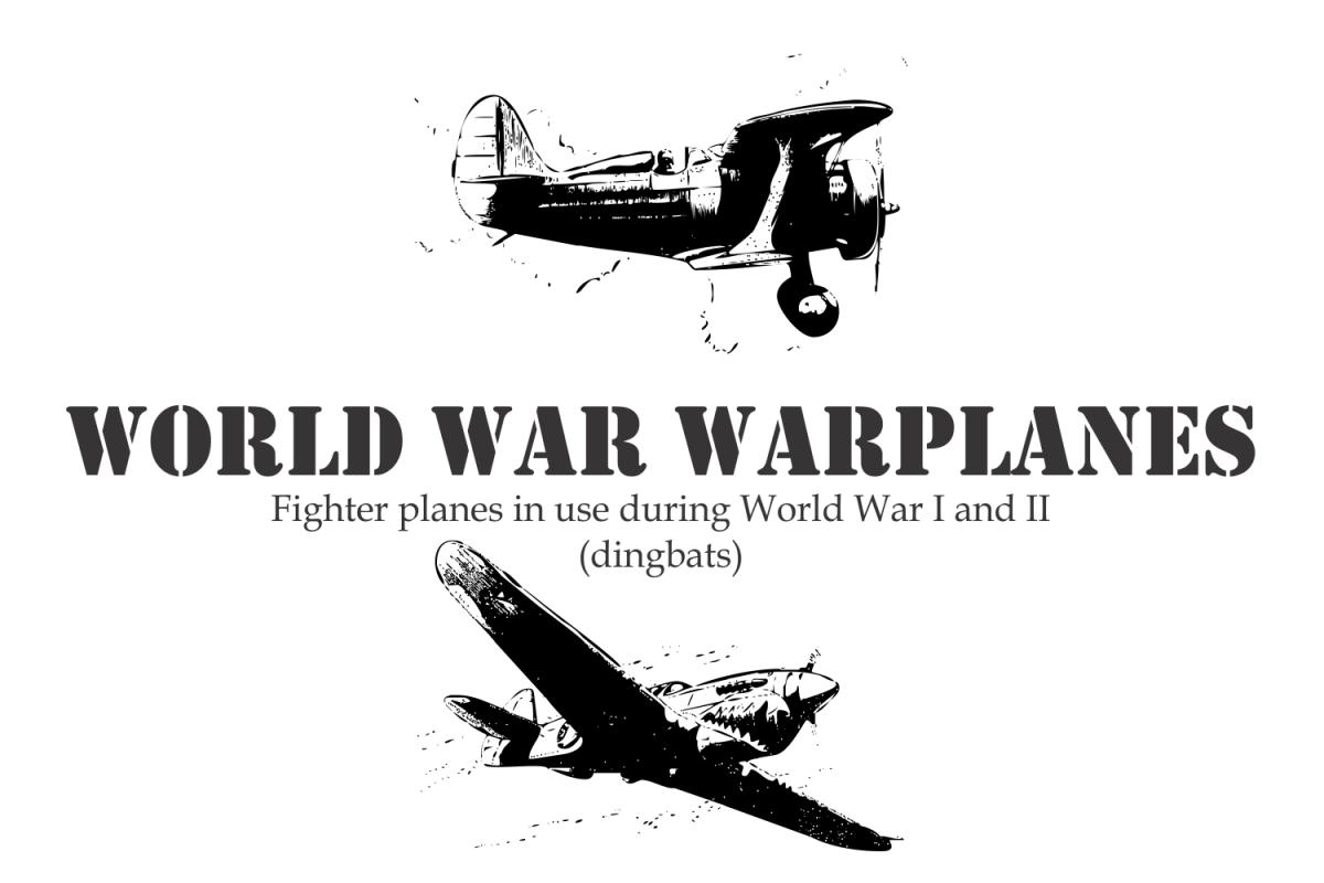 World War Warplanes Other Font