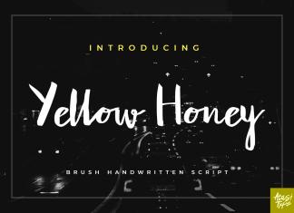 Yellow Honey Script Font