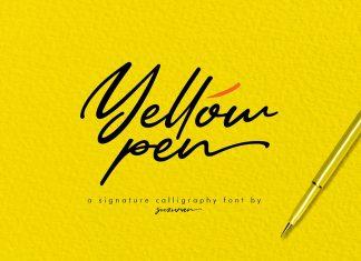 Yellow Pen Script Font