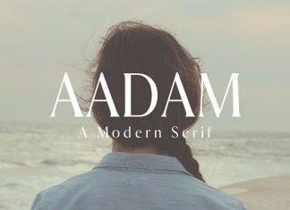 Aadam A Modern Serif Font Family