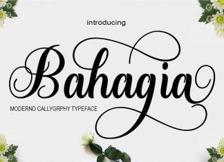 Bahagia Script Font