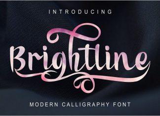 Brightline Modern Calligraphy Script Font
