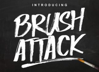 Brush Attack Font