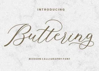 ButteringScript Font