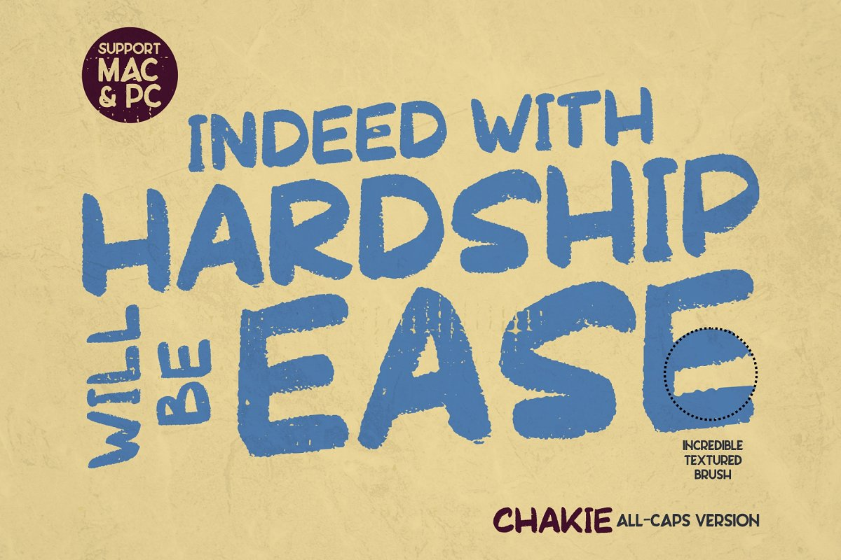 CHAKIE - Retro Brush Font