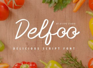 Delfoo Script Font