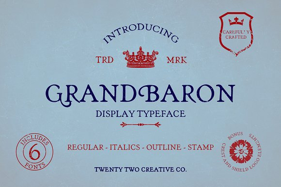 Grand Baron - A Vintage Typeface