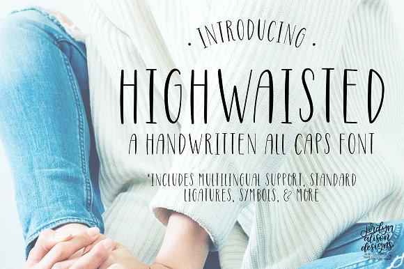 Highwaisted Skinny Caps Font