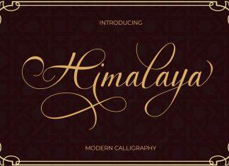 Himalaya Script Font