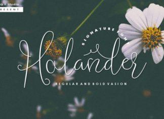 Holander Script Font