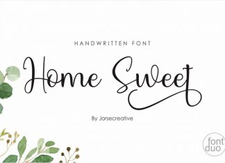 Home Sweet Script Font