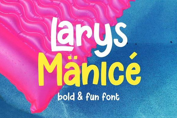 Larys Manice - Bold & Fun Font