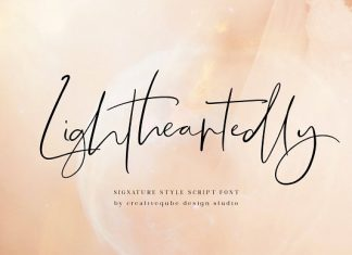 Lightheartedly Signature style font
