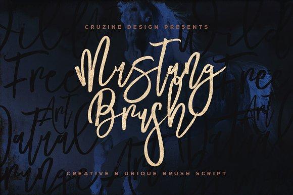 Mustang Brush Font