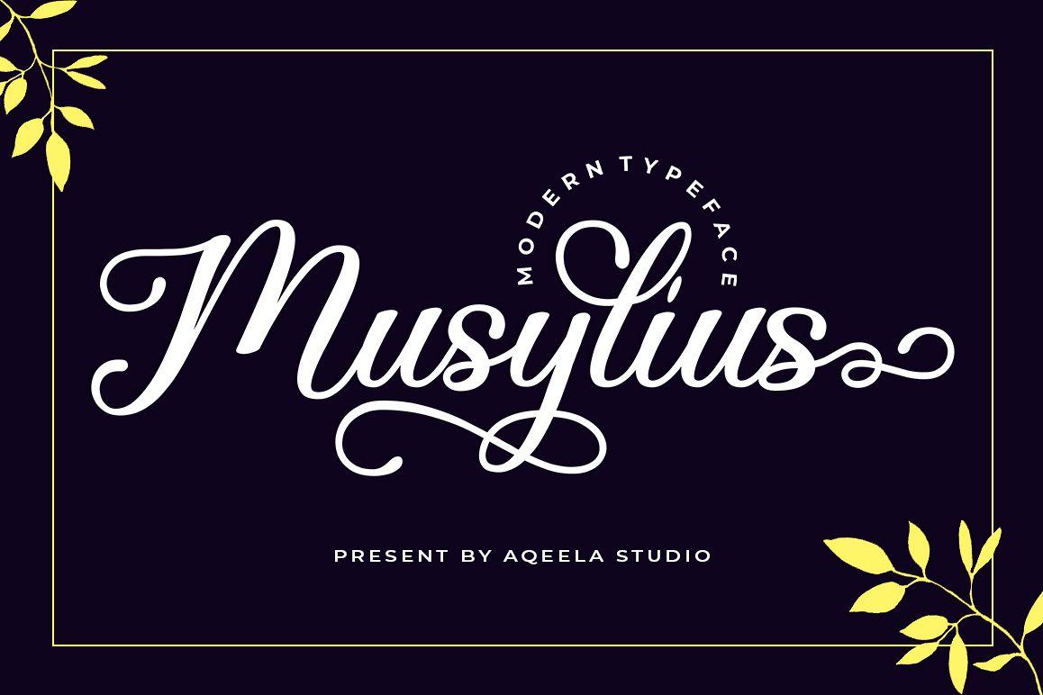 Musylius Script Font