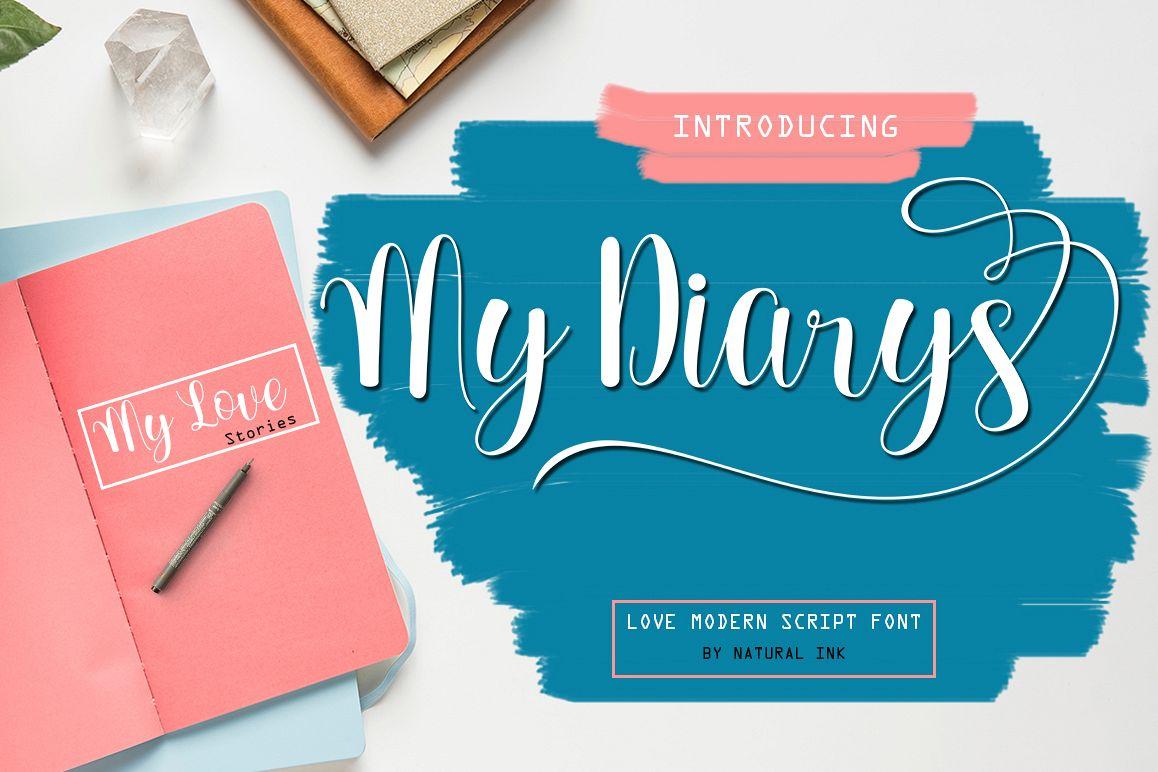 My DiarysScript Font