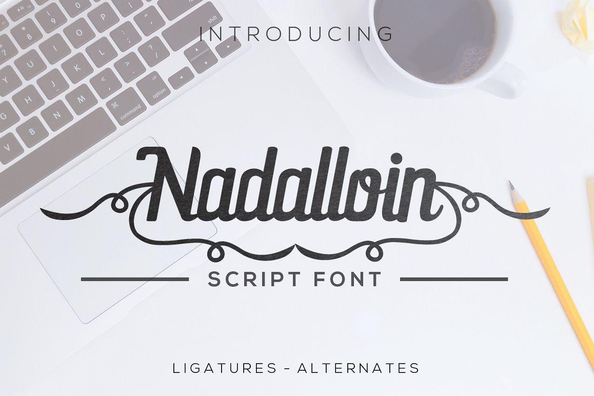 Nadalloin font Script Font