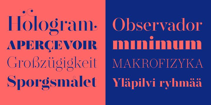 Operetta Font Family
