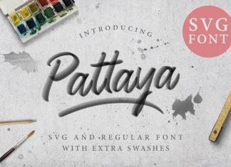 Pattaya SVG & Script Regular