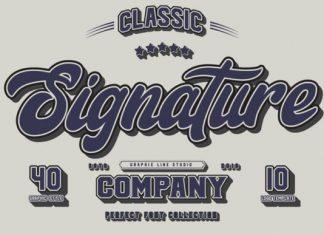 Signature Trio Font