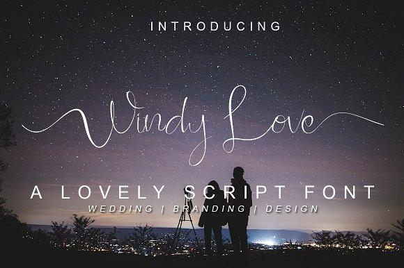 Windy Love Font