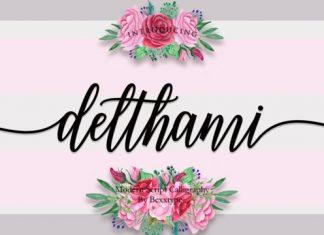 Delthami Script Font