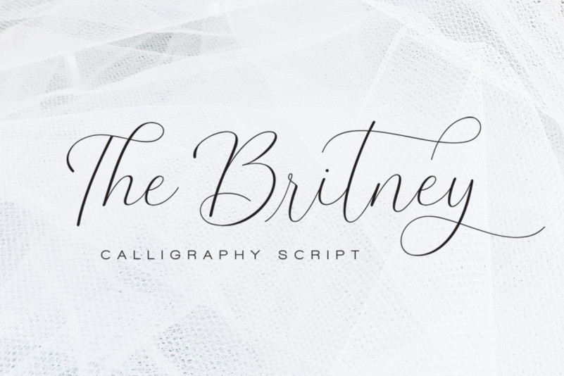 The Britney - Calligraphy Script Font