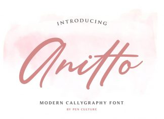 Anitto - Calligraphy Font