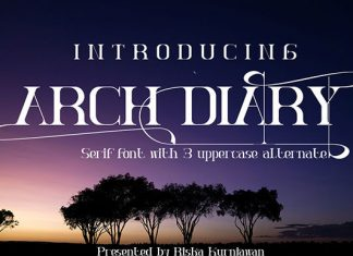 Arch Diary Font
