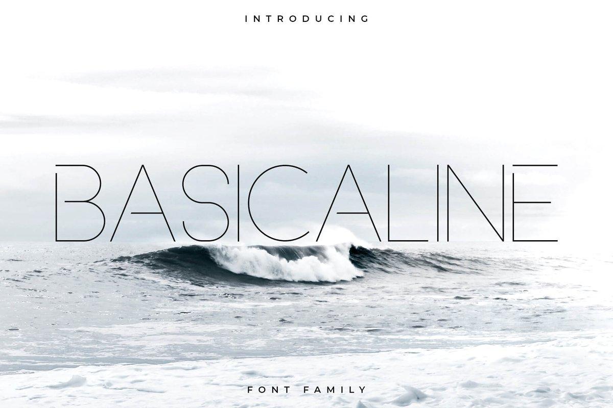 Basicaline Font Family - Sans Serif